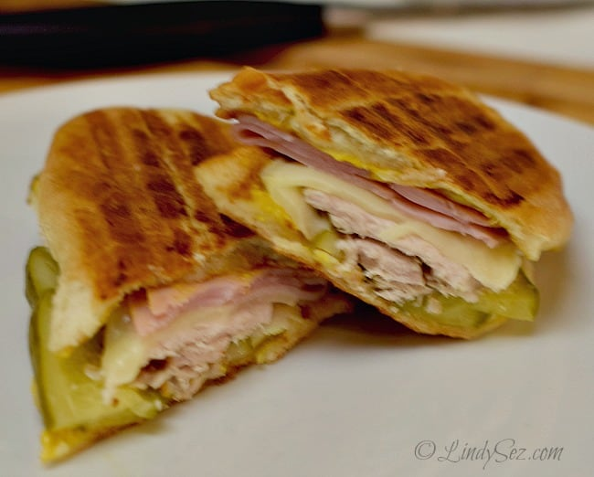 The finished Cuban Sandwich