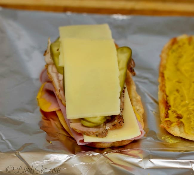 Cuban Sandwich ready to wrap