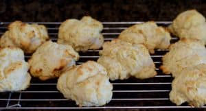 A rack with Tender Simple Homemade Buttermilk Biscuits