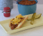A delicious chili dog made with Hormel Chili No Beans Copycat Recipe.
